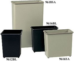 Square Wastebasket, Black (3 Pack)