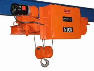 4 Ton Low Hdrm Hoist,Mtr Trolley,28'Lift,15fpm
