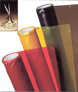 Trans Vue Orange Welding Curtain Roll