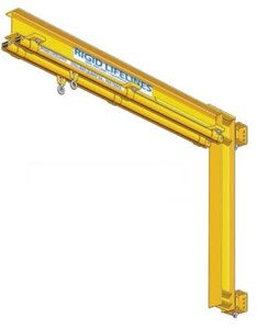 20' Column-Mounted Swing Arms Crane