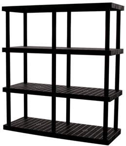 "4-Shelf Grid Top 72""H Adj Shelving System"