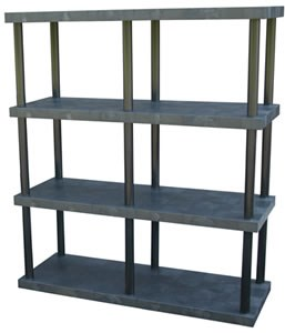 "3-Shelf 51""H Shelving System, Solid Top"