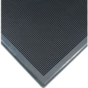 "Sanitizing Footbath Mat 32""x39""-Tall Walls-Black"