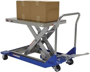 Partially Stainless Steel Manual Scissor Cart