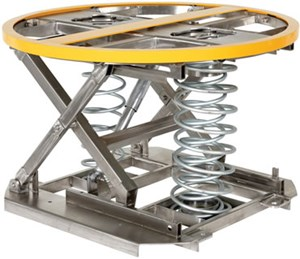 Partial St Steel Spring Scissor Table (Open Top)
