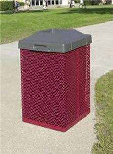 38 Gallon Metal Trash Container