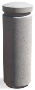 Round Concrete Bollards with Reveal Line