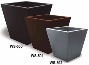Powder Coated Aluminum Planters