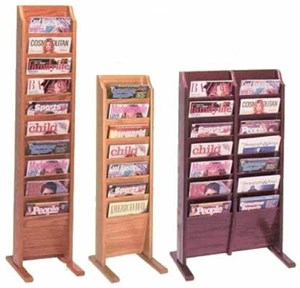 10 Pocket Magazine Rack